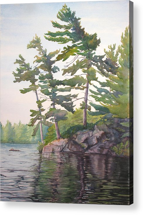 Rocks Acrylic Print featuring the painting O Canada No.2 by Debbie Homewood