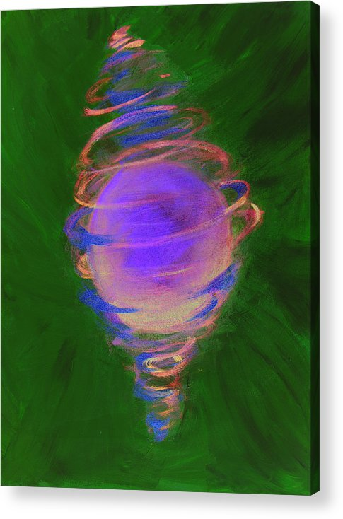 Abstract Acrylic Print featuring the painting Prosperity by Cecilia August Sand
