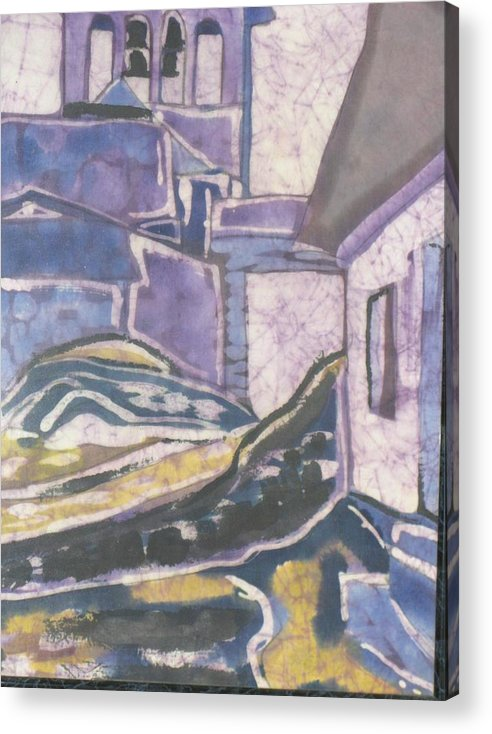 Landscape Acrylic Print featuring the painting The South Of France by Kathy Mitchell