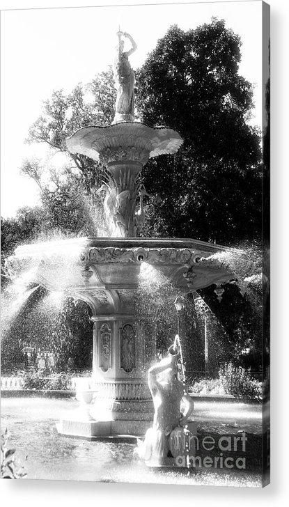 Fountain Dance Acrylic Print featuring the photograph Fountain Dance by John Rizzuto
