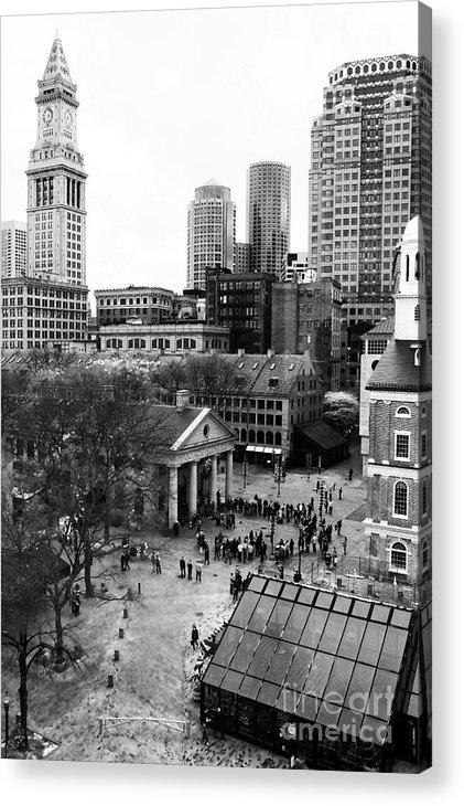 Faneuil Hall Acrylic Print featuring the photograph Faneuil Hall Marketplace by John Rizzuto