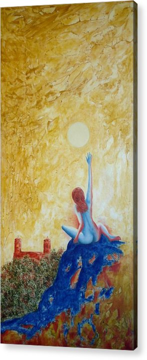 Nude Acrylic Print featuring the painting Central Park Venus No. 5. by Michael Price