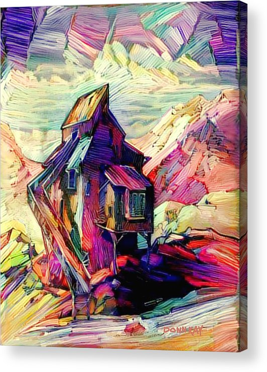 Colorado Acrylic Print featuring the digital art Colorado History by Donn Kay