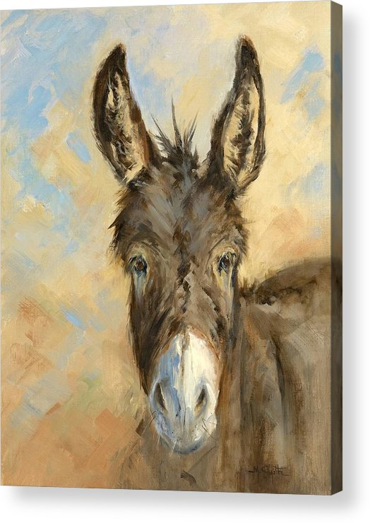 Burro Acrylic Print featuring the painting I'm All Ears by Marla Smith