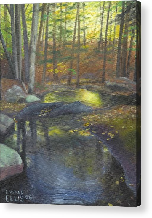 Landscape Acrylic Print featuring the painting The Wading Pool by Laurel Ellis