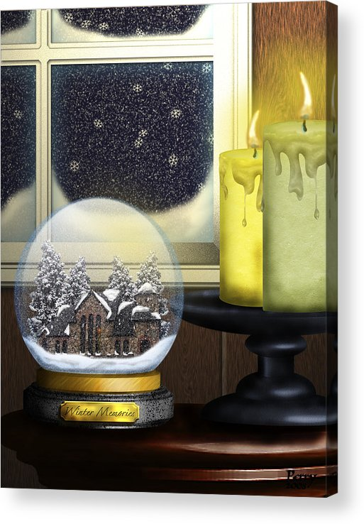 Snow Acrylic Print featuring the digital art Winter Memories by Carl Perry