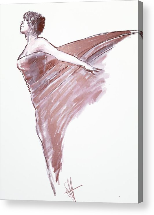 Drawing Acrylic Print featuring the digital art Angel by Scott Waters