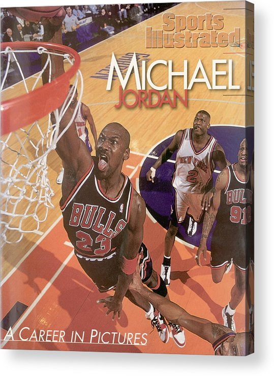 Nba Pro Basketball Acrylic Print featuring the photograph Michael Jordan A Career In Pictures Sports Illustrated Cover by Sports Illustrated