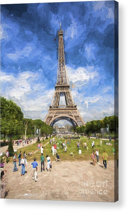 Eiffel Tower Acrylic Print featuring the photograph Paris by Sheila Smart Fine Art Photography