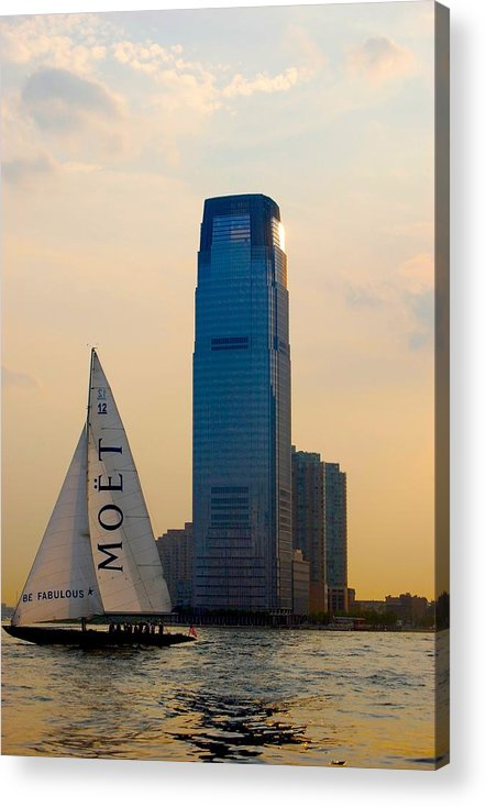Hudson River Acrylic Print featuring the photograph Hudson River Sailing by Judy Swerlick