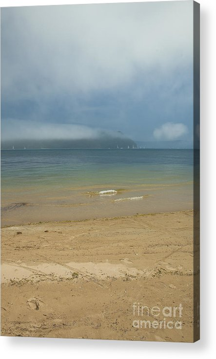 Misty Acrylic Print featuring the photograph Mist over Pittwater by Sheila Smart Fine Art Photography