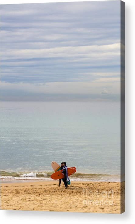 Pastel Acrylic Print featuring the photograph Pastel Manly morning by Sheila Smart Fine Art Photography