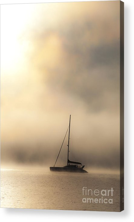 Mist Acrylic Print featuring the photograph Yacht in mist by Sheila Smart Fine Art Photography