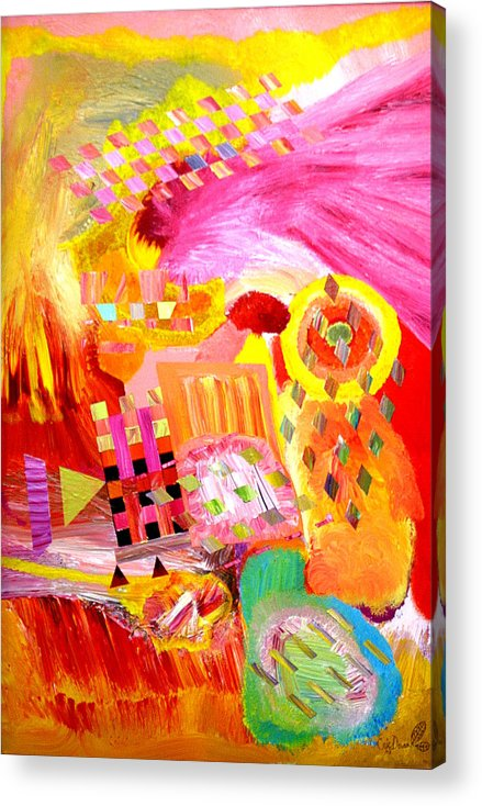 Acrylic Acrylic Print featuring the painting Fire In My Heart by Eric Devan