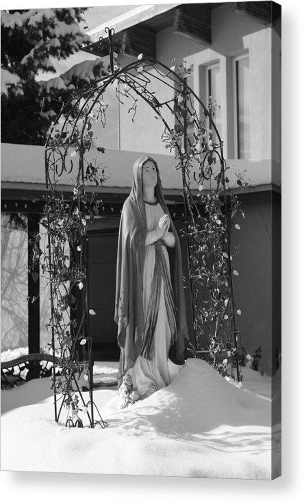 New Mexico Acrylic Print featuring the photograph Holy Trinity Catholic Church by Troy Montemayor