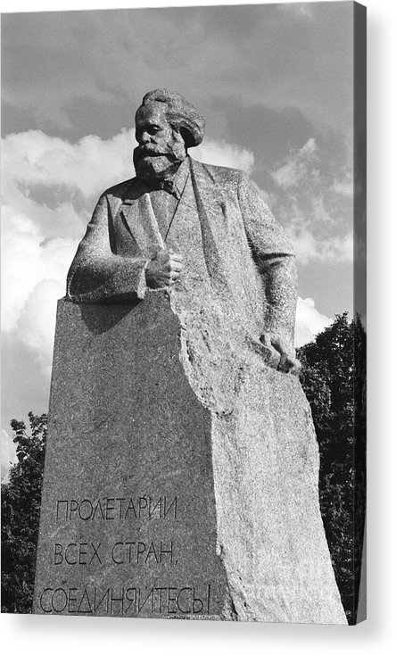 Karl Marx Acrylic Print featuring the photograph Marx by Susan Chandler