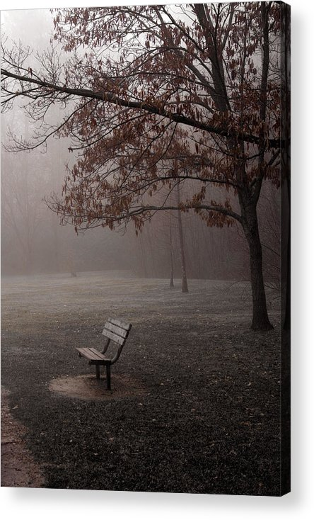 Bench Acrylic Print featuring the photograph Waiting by Ayesha Lakes