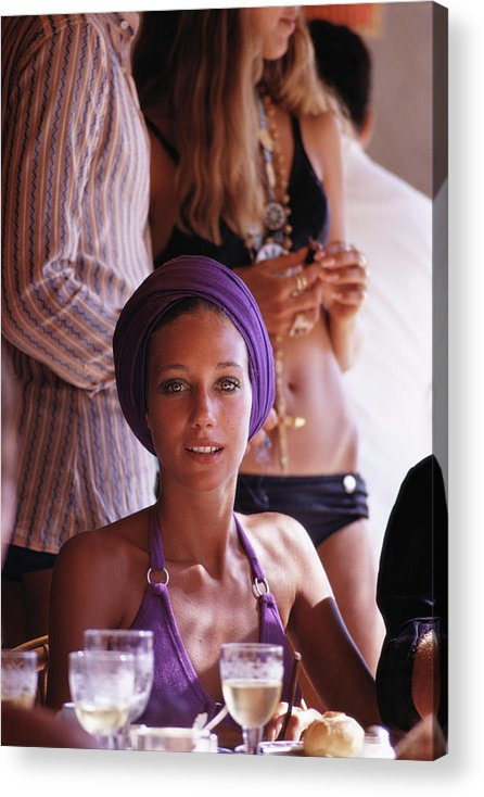 People Acrylic Print featuring the photograph Marisa Berenson by Slim Aarons