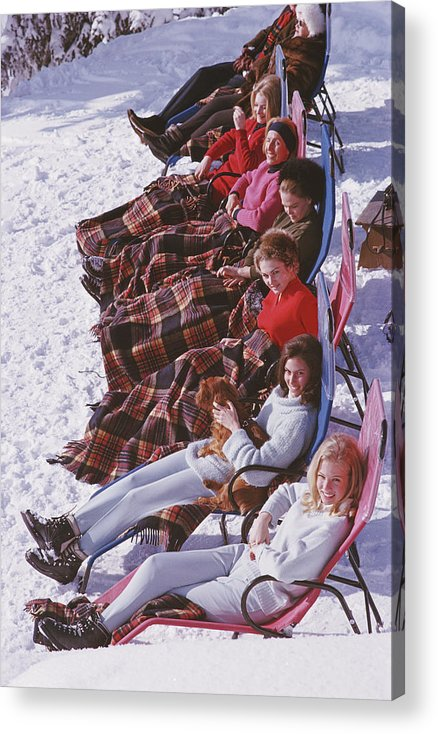 Gstaad Acrylic Print featuring the photograph Apres Ski by Slim Aarons