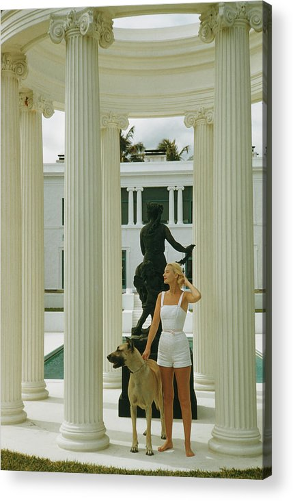 Pets Acrylic Print featuring the photograph C. Z. Guest by Slim Aarons