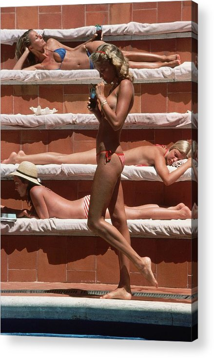 1980-1989 Acrylic Print featuring the photograph Catherine Wilke by Slim Aarons