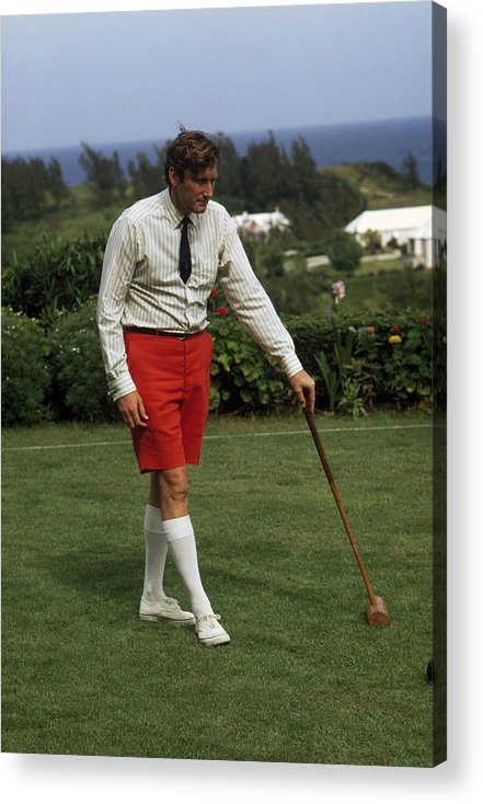 People Acrylic Print featuring the photograph Croquet by Slim Aarons