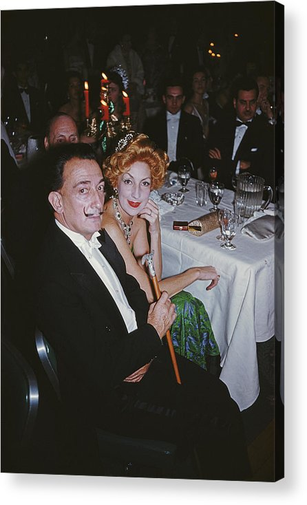 People Acrylic Print featuring the photograph Dalis Party by Slim Aarons