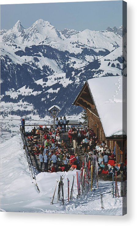 Gstaad Acrylic Print featuring the photograph Eagle Club by Slim Aarons