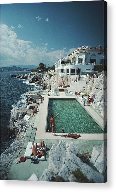 Recreational Pursuit Acrylic Print featuring the photograph Eden-roc Pool by Slim Aarons