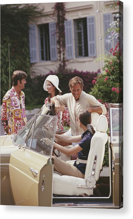 People Acrylic Print featuring the photograph French Holiday by Slim Aarons
