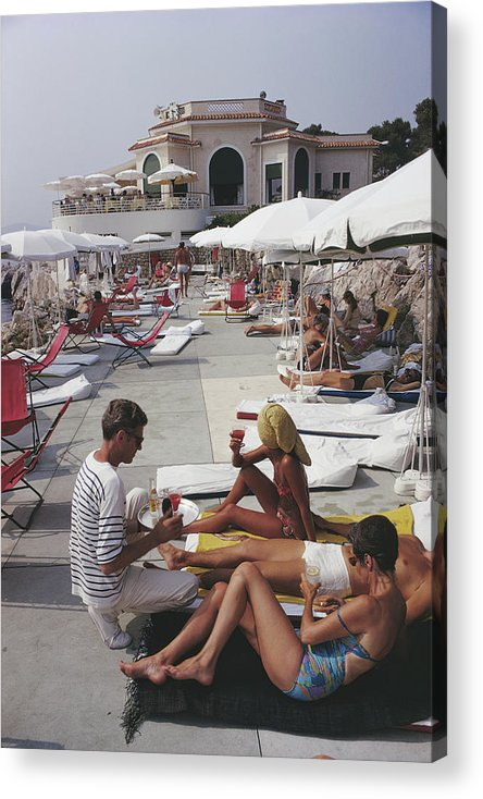 People Acrylic Print featuring the photograph Hotel Du Cap by Slim Aarons
