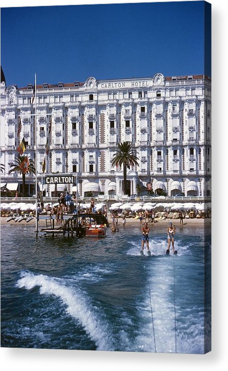 Skiing Acrylic Print featuring the photograph Hotel Sports by Slim Aarons