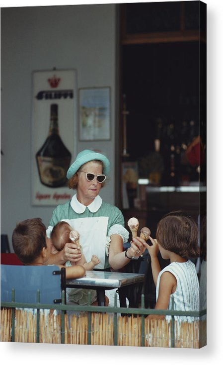 Child Acrylic Print featuring the photograph Ice Cream Time by Slim Aarons