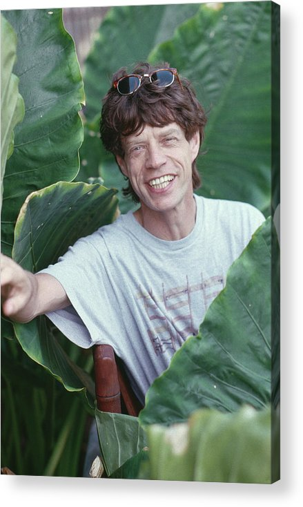 Mick Jagger Acrylic Print featuring the photograph Jagger On Holiday by Slim Aarons