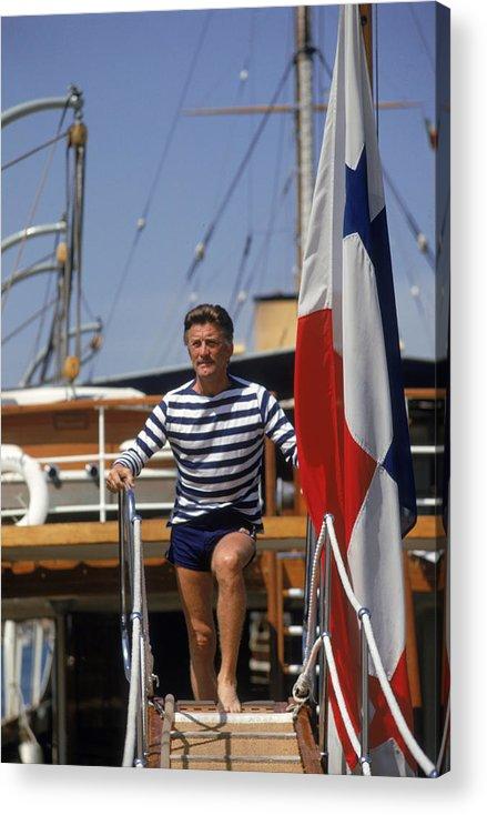 Kirk Douglas Acrylic Print featuring the photograph Kirk Douglas by Slim Aarons