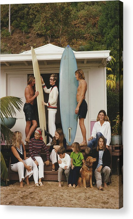 Pets Acrylic Print featuring the photograph Laguna Beach by Slim Aarons