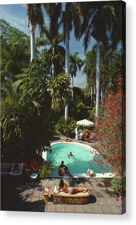 1980-1989 Acrylic Print featuring the photograph Mazatlan Mansion by Slim Aarons
