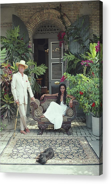 Pets Acrylic Print featuring the photograph Olivier Coquelin by Slim Aarons