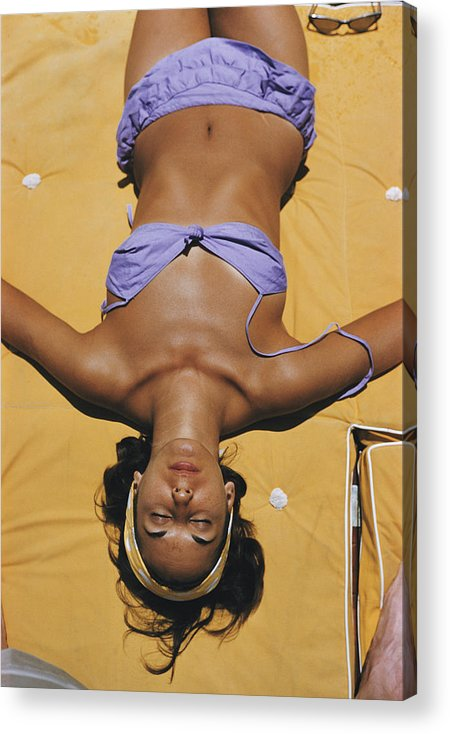 People Acrylic Print featuring the photograph Sun Worship by Slim Aarons
