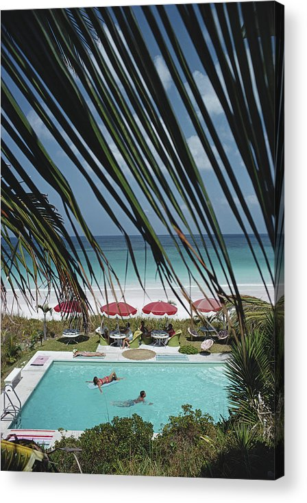 People Acrylic Print featuring the photograph The Bahamas by Slim Aarons