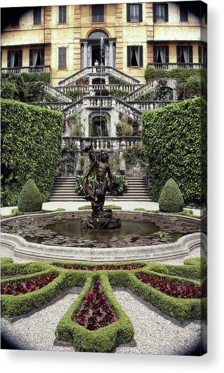 Tremezzo Acrylic Print featuring the photograph Villa Carlotta by Slim Aarons