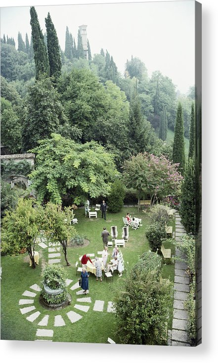 1980-1989 Acrylic Print featuring the photograph Villa Cipriani by Slim Aarons