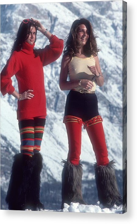 People Acrylic Print featuring the photograph Winter Wear by Slim Aarons