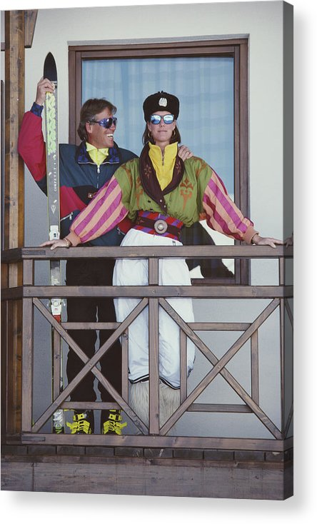 Skiing Acrylic Print featuring the photograph You Look Wonderful by Slim Aarons