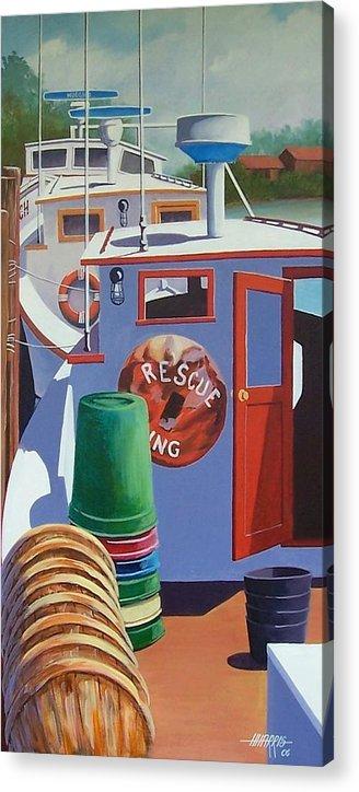 Workboats Acrylic Print featuring the painting Davis Creek Boats by Hugh Harris