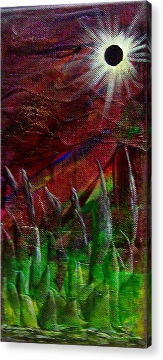 Abstract Acrylic Print featuring the painting Eclpise II by Tony Rodriguez