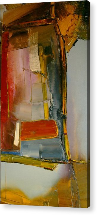 Abstract Acrylic Print featuring the painting Everything is Blended Nothing Stands Alone by Stefan Fiedorowicz