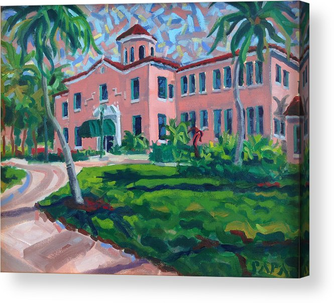 Delray Beach Acrylic Print featuring the painting Old School at Delray by Ralph Papa