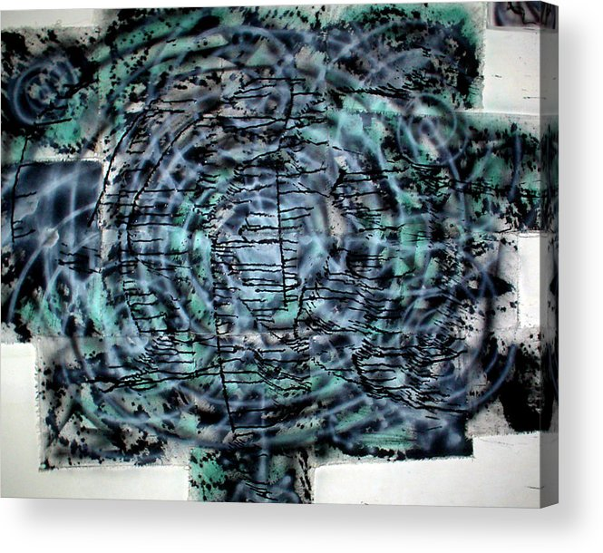 Acrylic Print featuring the painting Square Spiral by Leigh Odom