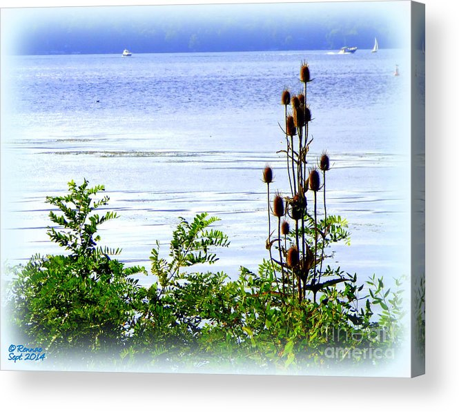 Waterscape Acrylic Print featuring the photograph Waters Edge by Rennae Christman